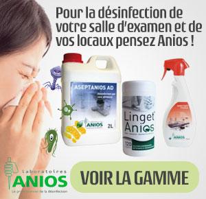 désinfectants Anios pour désinfecter le votre cabinet médical