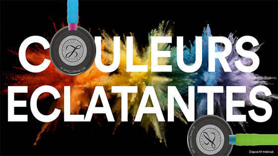 Nouvelles couleurs stéthoscopes Litmann 3M