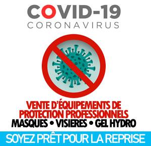 image équipements de protection pour les mesures anti covid-19
